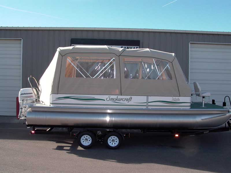 Top Enclosure for Pontoons & Pontoon Boat Enclosures and Covers | Paulu0027s Custom Canvas